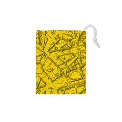 Thorny Abstract,golden Drawstring Pouches (xs)