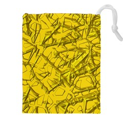 Thorny Abstract,golden Drawstring Pouches (xxl)