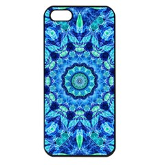 Blue Sea Jewel Mandala Apple iPhone 5 Seamless Case (Black)