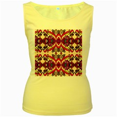 Birds Women s Yellow Tank Top