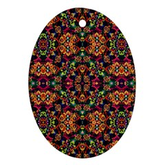 Luxury Boho Baroque Oval Ornament (Two Sides)