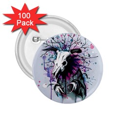 From Nature We Must Stray 2.25  Buttons (100 pack)