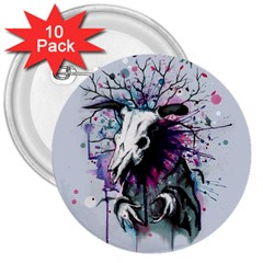 From Nature We Must Stray 3  Buttons (10 pack)