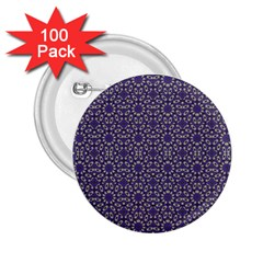 Stylized Floral Check 2.25  Buttons (100 pack)