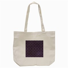 Stylized Floral Check Tote Bag (cream)