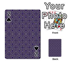 Stylized Floral Check Playing Cards 54 Designs