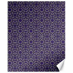 Stylized Floral Check Canvas 16  x 20