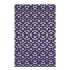 Stylized Floral Check Shower Curtain 48  x 72  (Small)