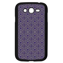 Stylized Floral Check Samsung Galaxy Grand DUOS I9082 Case (Black)