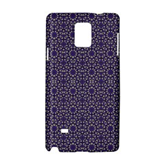 Stylized Floral Check Samsung Galaxy Note 4 Hardshell Case
