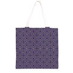 Stylized Floral Check Grocery Light Tote Bag