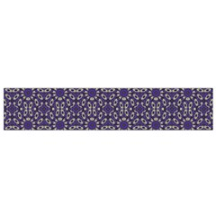 Stylized Floral Check Flano Scarf (Small)