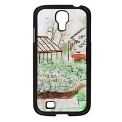 Watercolour Garden Samsung Galaxy S4 I9500/ I9505 Case (Black)