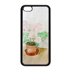 Watercolour Azalea Apple iPhone 5C Seamless Case (Black)