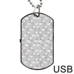 Ditsy Flowers Collage Dog Tag Usb Flash (two Sides)
