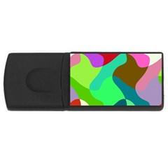 Retro shapes                                   USB Flash Drive Rectangular (4 GB)