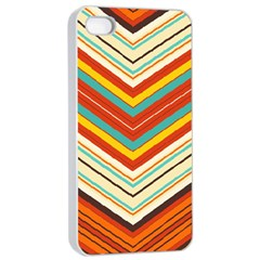 Bent stripes                                    			Apple iPhone 4/4s Seamless Case (White)