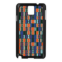4 colors shapes                                    			Samsung Galaxy Note 3 N9005 Case (Black)