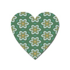 Yellow flowers pattern                                    			Magnet (Heart)