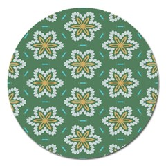 Yellow flowers pattern                                    Magnet 5  (Round)