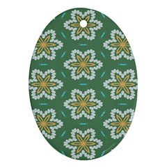 Yellow flowers pattern                                    Ornament (Oval)