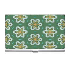 Yellow flowers pattern                                    Business Card Holder