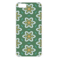 Yellow flowers pattern                                    			Apple iPhone 5 Seamless Case (White)