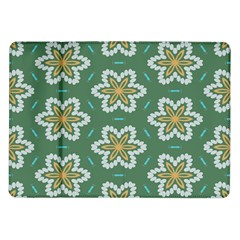 Yellow Flowers Pattern                                    			samsung Galaxy Tab 10 1  P7500 Flip Case