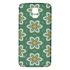 Yellow flowers pattern                                    			Samsung Galaxy S5 Back Case (White)