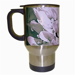 White Flower Travel Mugs (White)