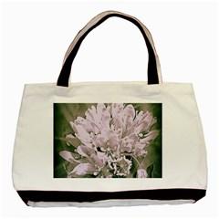 White Flower Basic Tote Bag