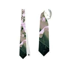 White Flower Neckties (two Side)