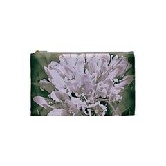 White Flower Cosmetic Bag (Small)