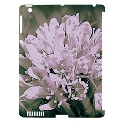 White Flower Apple iPad 3/4 Hardshell Case (Compatible with Smart Cover)
