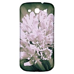 White Flower Samsung Galaxy S3 S III Classic Hardshell Back Case