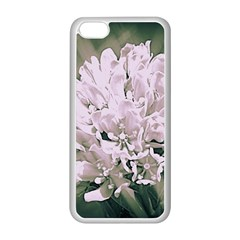 White Flower Apple iPhone 5C Seamless Case (White)