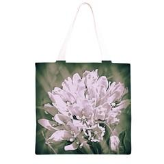 White Flower Grocery Light Tote Bag