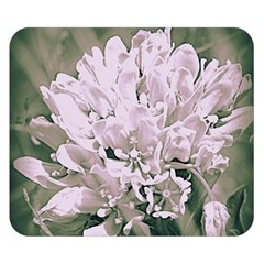 White Flower Double Sided Flano Blanket (small)