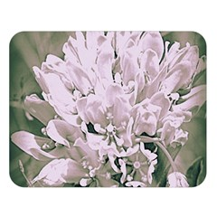 White Flower Double Sided Flano Blanket (large)