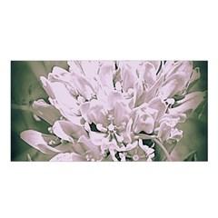White Flower Satin Shawl