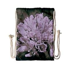 White Flower Drawstring Bag (Small)