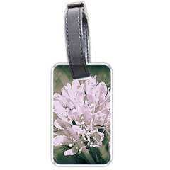 White Flower Luggage Tags (One Side)