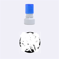 White Flower Rubber Round Stamps (small)