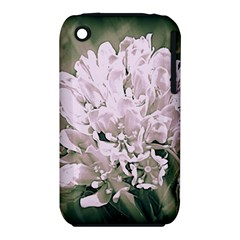White Flower Apple iPhone 3G/3GS Hardshell Case (PC+Silicone)