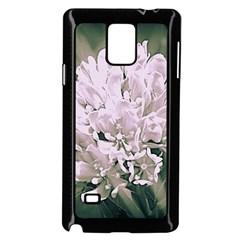White Flower Samsung Galaxy Note 4 Case (Black)
