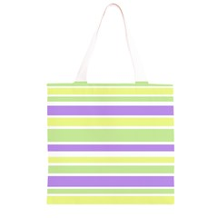 Yellow Purple Green Stripes Grocery Light Tote Bag