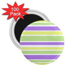 Yellow Purple Green Stripes 2.25  Magnets (100 pack)