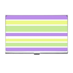 Yellow Purple Green Stripes Business Card Holders