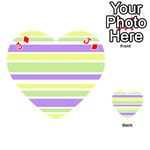 Yellow Purple Green Stripes Playing Cards 54 (Heart)  Front - DiamondJ