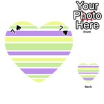 Yellow Purple Green Stripes Playing Cards 54 (Heart)  Front - Spade7